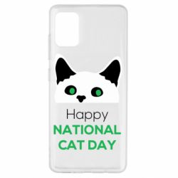 Чехол для Samsung A51 Happy National Cat Day