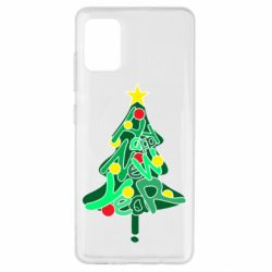 Чохол для Samsung A51 Happy new year on the tree