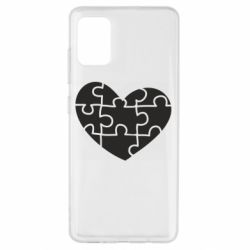 Чехол для Samsung A51 Heart and puzzle