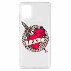Чехол для Samsung A51 Heart with sword