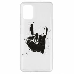 Чехол для Samsung A51 HEAVY METAL ROCK