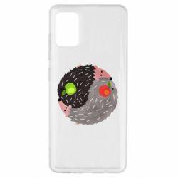 Чохол для Samsung A51 Hedgehogs yin-yang