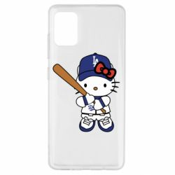 Чохол для Samsung A51 Hello Kitty baseball