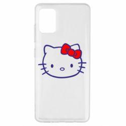 Чехол для Samsung A51 Hello Kitty logo