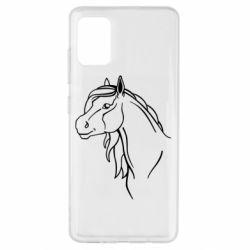 Чехол для Samsung A51 Horse contour