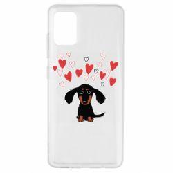 Чохол для Samsung A51 I love dachshund