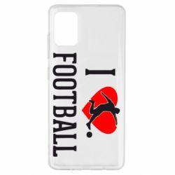 Чохол для Samsung A51 I love football
