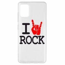 Чехол для Samsung A51 I love rock