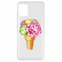 Чохол для Samsung A51 Ice cream flowers