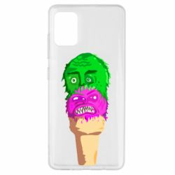 Чехол для Samsung A51 Ice cream with face