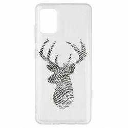 Чохол для Samsung A51 Imprint of human skin in the form of a deer