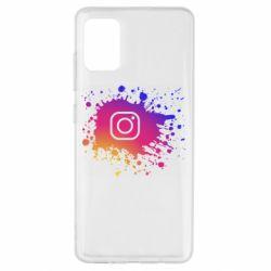 Чехол для Samsung A51 Instagram spray