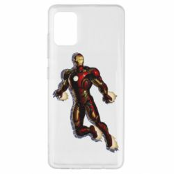 Чехол для Samsung A51 Iron man with the shadow of the lines