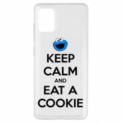 Чехол для Samsung A51 Keep Calm and Eat a cookie