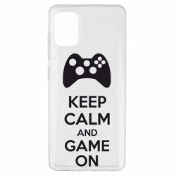 Чехол для Samsung A51 KEEP CALM and GAME ON