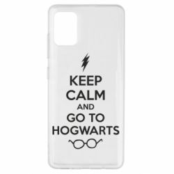 Чехол для Samsung A51 KEEP CALM and GO TO HOGWARTS