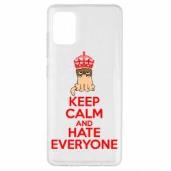 Чехол для Samsung A51 KEEP CALM and HATE EVERYONE