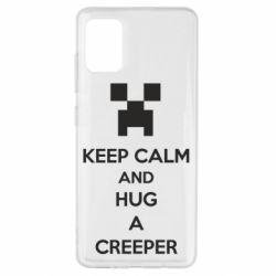 Чехол для Samsung A51 KEEP CALM and HUG A CREEPER