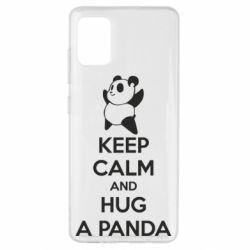 Чохол для Samsung A51 KEEP CALM and HUG A PANDA