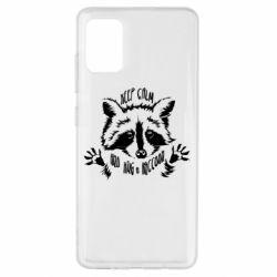 Чохол для Samsung A51 Keep calm and hug a raccoon