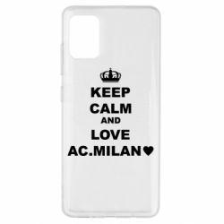 Чохол для Samsung A51 Keep calm and love AC Milan