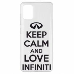 Чехол для Samsung A51 KEEP CALM and LOVE INFINITI