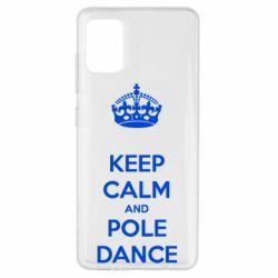 Чохол для Samsung A51 KEEP CALM and pole dance