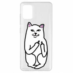 Чехол для Samsung A51 Кот с факом