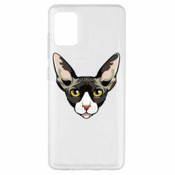 Чохол для Samsung A51 Котя сфінкс жовті очі