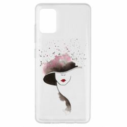 Чехол для Samsung A51 Lady in a hat