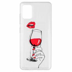 Чохол для Samsung A51 Lady is drinking