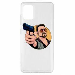 Чохол для Samsung A51 Лебовськи з пістолетом