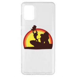 Чехол для Samsung A51 Lion king silhouette