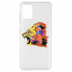 Чехол для Samsung A51 Lion multicolor