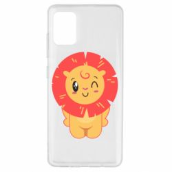 Чехол для Samsung A51 Lion with orange mane