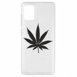 Чохол для Samsung A51 Листочок марихуани