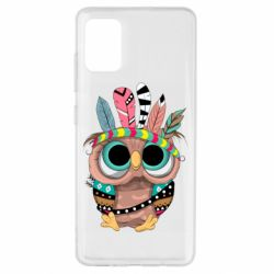 Чохол для Samsung A51 Little owl with feathers