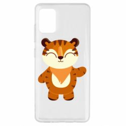 Чехол для Samsung A51 Little tiger with a smile