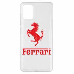 Чехол для Samsung A51 логотип Ferrari