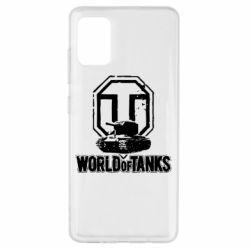 Чехол для Samsung A51 Логотип World Of Tanks
