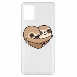 Чохол для Samsung A51 Love sloths