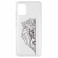 Чохол для Samsung A51 Low poly lion head