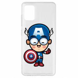 Чехол для Samsung A51 Маленький Капитан Америка
