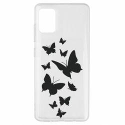 Чохол для Samsung A51 Many butterflies