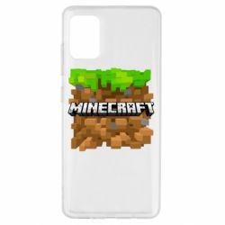 Чохол для Samsung A51 Minecraft Main Logo