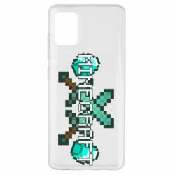 Чохол для Samsung A51 Minecraft алмазний меч