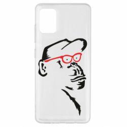 Чохол для Samsung A51 Monkey in red glasses