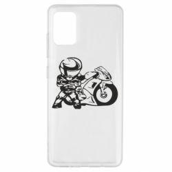 Чехол для Samsung A51 Мотоциклист