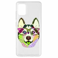 Чохол для Samsung A51 Multi-colored dog with glasses