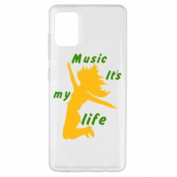 Чохол для Samsung A51 Music it's my life